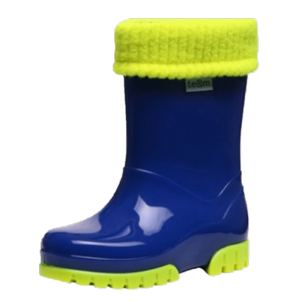 Demar/Toughees WELLIES With Fleece Sock (Royal Blue) 26/27 only!